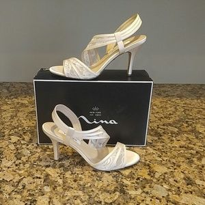 Beautiful Ivory Lace Shoes by Nina